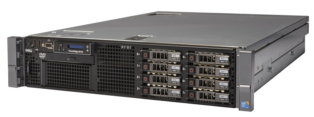 "Изображение Сервер DELL PowerEdge R710 II SFF 2*Xeon x5680 96Gb 10600R DDR3 8xnoHDD 2.5"" RAID Perc H700, 512Mb, DVD, 2*PSU 870W"