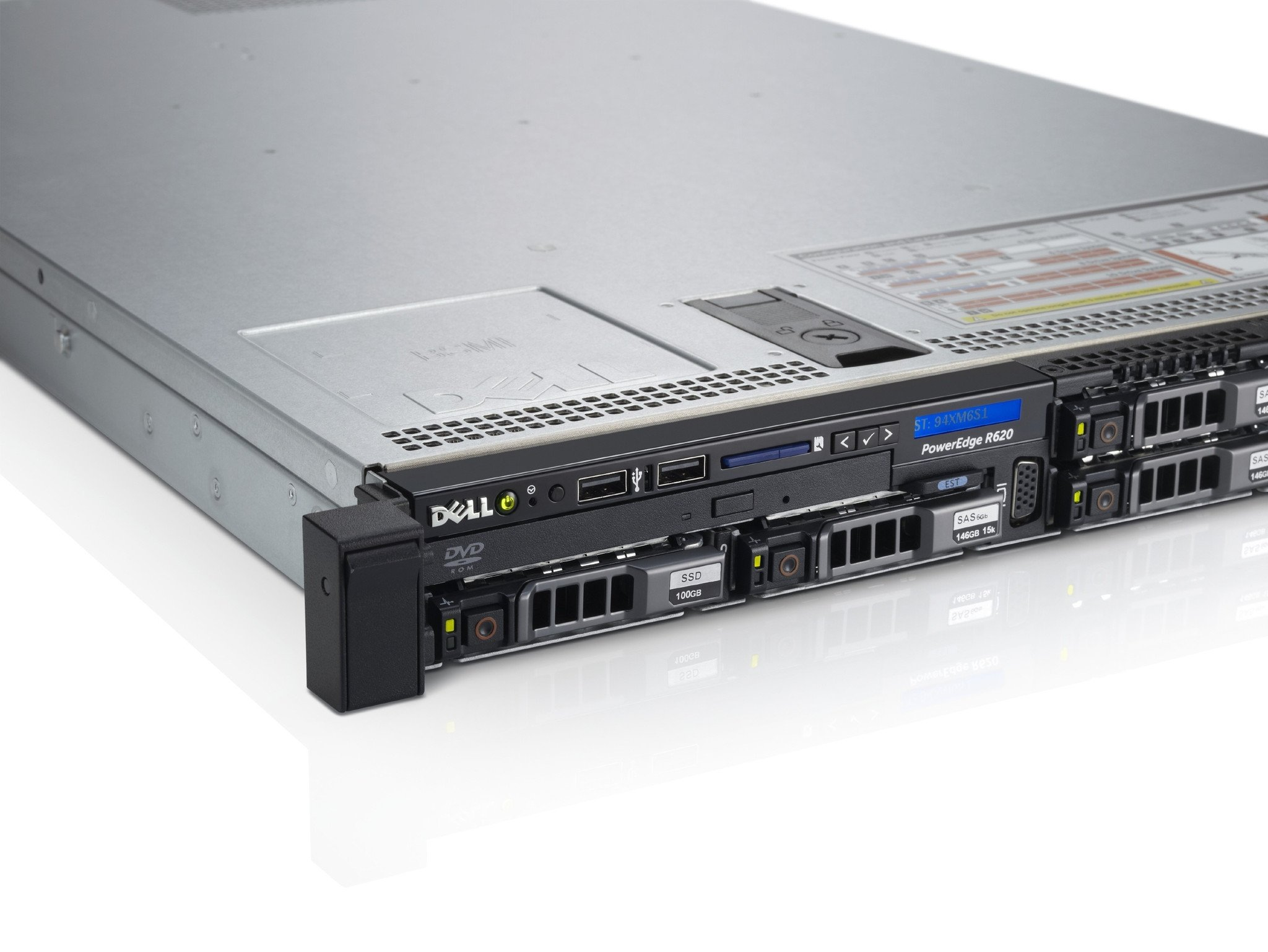 "Подробное фото Сервер DELL PowerEdge R620 2*Xeon E5-2667v2 96Gb 12800R DDR3 8x noHDD 2.5"" SAS RAID Perc H710 mini, 512Mb, DVD, 2*PSU 750W"