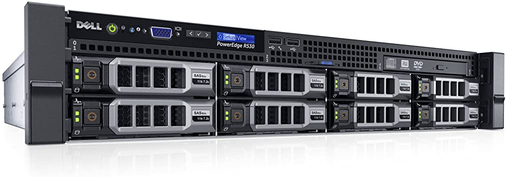 "Подробное фото Сервер DELL PowerEdge R530 2*Xeon E5-2630v3 32Gb 2133P DDR4 8x noHDD 3.5"" SAS RAID Perc H330, DVD, 2*PSU 750W"