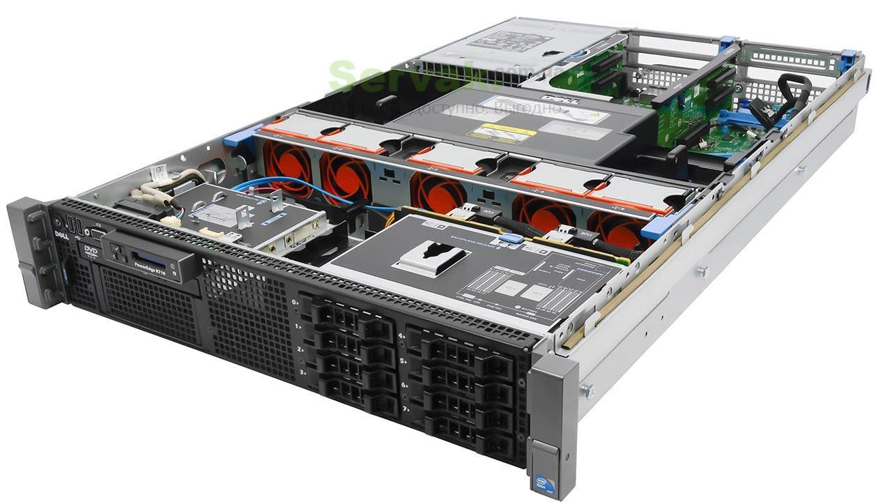 Сервер DELL PowerEdge R710 II SFF 2*Xeon x5650 48Gb 10600R